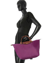 Longchamp Handbag Violet-vue-porte