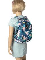 Backpack Mini Rip curl Blue flora LBPGL1-vue-porte