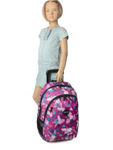 Wheeled Backpack 2 Compartments Rip curl Violet flora LBPGR1-vue-porte