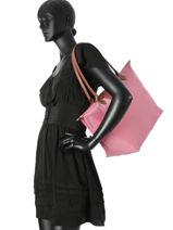 Longchamp Hobo bag Pink-vue-porte