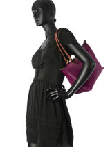 Longchamp Hobo bag Violet-vue-porte