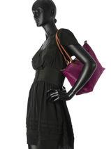 Longchamp Besaces Violet-vue-porte