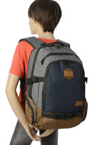 Backpack 2 Compartments Rip curl Blue stacka BBPTC2-vue-porte