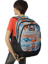 Backpack 3 Compartments Rip curl Black brush stokes BBPUX2-vue-porte