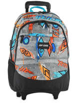 Wheeled Backpack 2 Compartments Rip curl Blue brush stokes BBPVF2