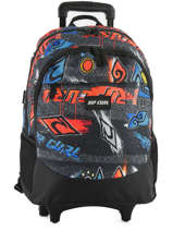 Wheeled Backpack 2 Compartments Rip curl Black brush stokes BBPVF2