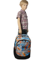 Wheeled Backpack 2 Compartments Rip curl Blue brush stokes BBPVF2-vue-porte