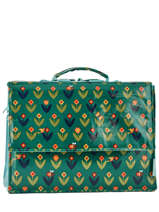 Satchel 1 Compartment A4 Les skewies Green glossy HYBRIDE