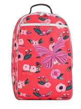 Backpack James Jeune premier Pink canvas JA018