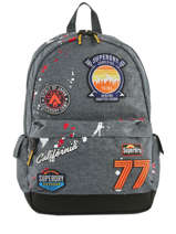 Backpack 1 Compartment Superdry Gray backpack men M91013NQ
