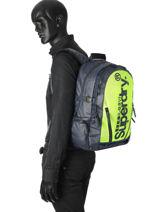 Backpack 2 Compartments Superdry Black backpack men M91022DQ-vue-porte