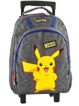 Wheeled Backpack Pokemon Gray pika pika 160-8487