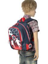 Backpack Mini Federat. france football Blue equipe de france 183X201S-vue-porte