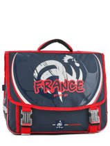 Satchel 2 Compartments Federat. france football Blue equipe de france 183X203S