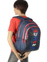 Backpack 3 Compartments Federat. france football Blue equipe de france 183X204I-vue-porte