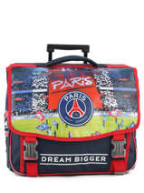 Cartable à Roulettes 2 Compartiments Paris st germain Bleu ici c