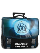 Wheeled Schoolbag 2 Compartments Olympique de marseille Blue droit au but 183O203R