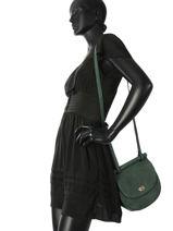 Shoulder Bag Casac Leather Etrier Green casac ECAS02-vue-porte