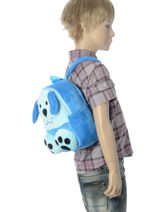 Backpack Mini Animal Blue kids KIDNI02-vue-porte