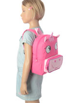 Backpack Mini Animal Black kids KIDEI02-vue-porte