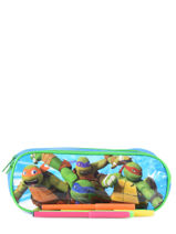Kit 2 Compartments Tortues ninja Multicolor attack AS9940-vue-porte