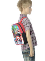 Backpack Mini Avengers Multicolor basic AST4085-vue-porte