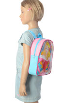 Sac à Dos Mini Disney Rose princess AST4091-vue-porte
