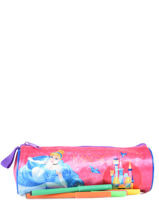 Trousse 1 Compartiment Disney Rose princess AST4917-vue-porte