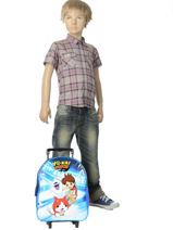 Wheeled Backpack 1 Compartment Yokai watch Blue attack YOKEI04-vue-porte