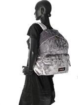 Backpack 1 Compartment Eastpak Gray crushed K620CRU-vue-porte