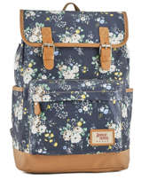Sac à Dos 1 Compartiment Basilic pepper Bleu liberty G653-FLO