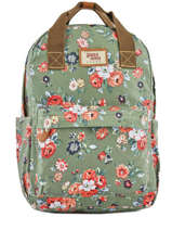 Backpack 1 Compartment Basilic pepper Green liberty G657-FLO