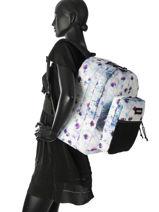Backpack 2 Compartments Eastpak Multicolor k060-vue-porte