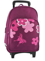 Wheeled Backpack Miniprix Violet school 15404