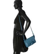 Longchamp Pénélope Sacs porté travers Bleu-vue-porte