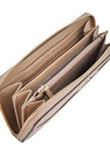Wallet Leather Michael kors Beige money pieces T8TF6Z3L-vue-porte