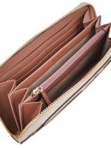 Wallet Leather Michael kors Pink money pieces T8TF6Z3T-vue-porte