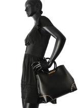 Shopping Bag Herron Leather Michael kors Black herron T8TXRT2L-vue-porte