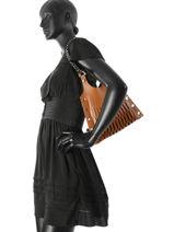 Shopper Baltard Leather Sonia rykiel Black baltard 9264-84-vue-porte