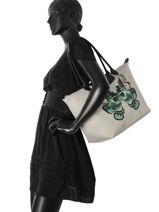 Longchamp Le pliage papillon Hobo bag Black-vue-porte