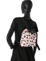 Longchamp Le pliage anÉmone Backpack Pink-vue-porte