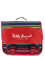 Satchel 2 Compartments Little marcel Red raye 8874