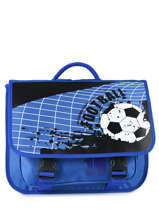 Cartable Miniprix Bleu football 1802B