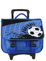 Wheeled Schoolbag Miniprix Blue football 1802T