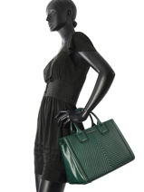 Top Handle Klassic Quilted Leather Karl lagerfeld Green klassic quilted 86KW3019-vue-porte