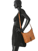 Shoulder Bag Gracieuse Hexagona Brown gracieuse 315314-vue-porte