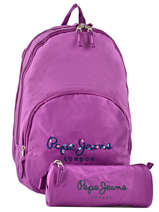 Backpack 2 Compartments Pepe jeans Violet harlow 66824