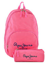 Backpack 2 Compartments Pepe jeans Pink harlow 66824