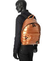 Backpack 1 Compartment Mueslii Gold metal RCM-vue-porte