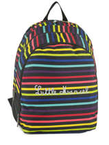 Backpack 2 Compartments Little marcel Multicolor raye 8871